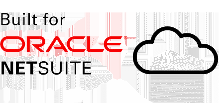 built for Oracle NetSuite with cloud next to text
